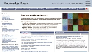 New Knowledge Mosaic home page