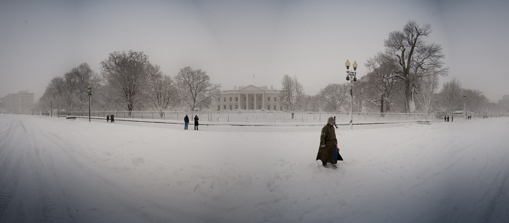 White House Snow Panorama