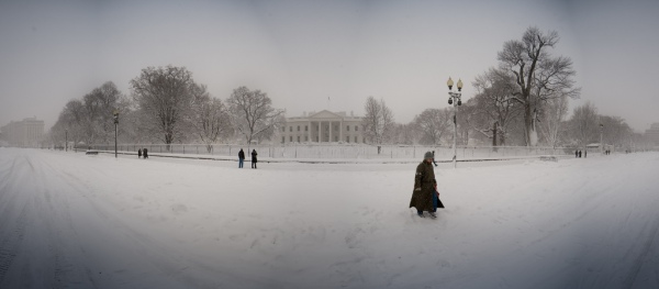 White House Snow Panorama