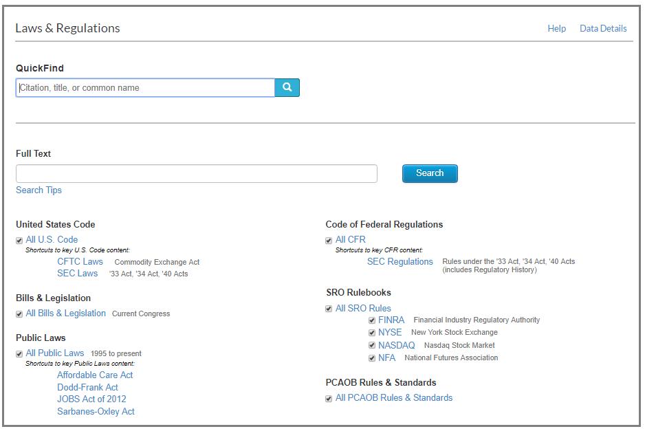 Laws Regs screenshot